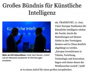 Screenshot of news article